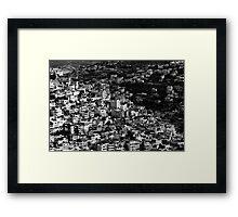 mountains of jerusalem Framed Print