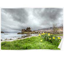 Spring day, Eilean Donan Castle Poster