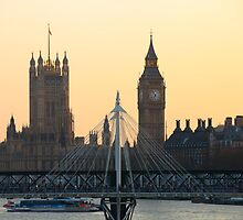 Golden view of Houses of Parliament by Darren Sharp