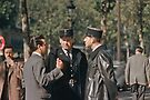 Paris Policemen 1957 09140001  by Fred Mitchell
