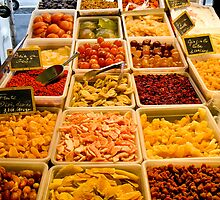 Antibes food market by Anne Scantlebury