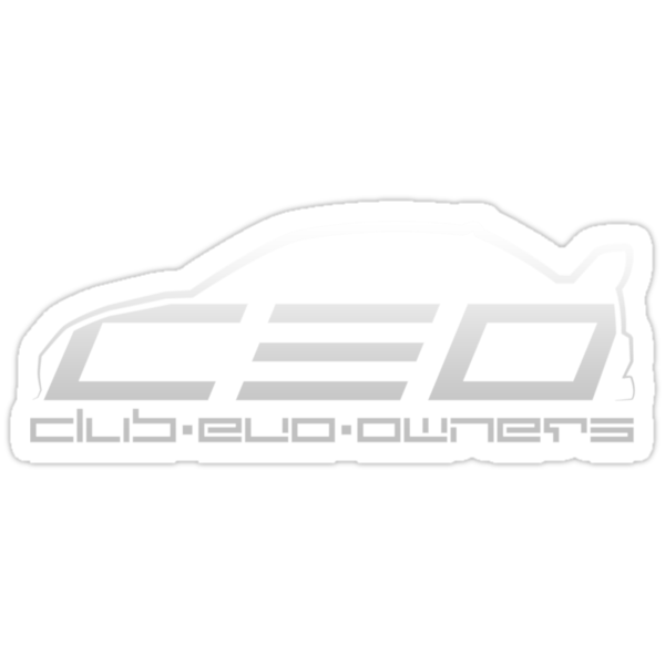 Club Evo Owners - Regular Logo (Silver) by James Love