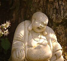 Spring Smiling Buddha  by Mike  Waldron