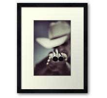 Law dog Framed Print