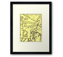 wrong note Framed Print