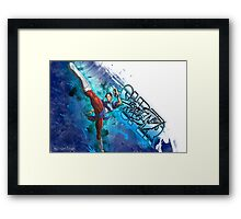 Super Street Fighter 4 - Grunge of Chun Li Framed Print