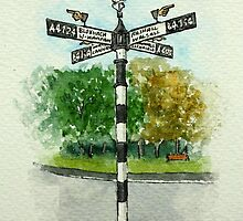 The Fingerpost, Pelsall by Lynne  M Kirby BA(Hons)