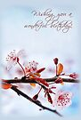 Happy Birthday - Cherry Blossoms (Card) by Tracy Friesen