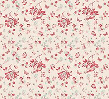 Flower pattern in red by nadil