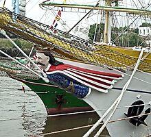 "Figurehead Romania ship ""MIRCEA"" by Woodie"