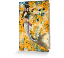 Steampunk Mermaid Greeting Card