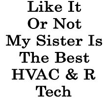 Like it or not my sister is the best HVAC &N Ref Tech by supernova23