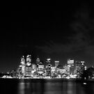 Sydney Harbour Bridge and Opera House in Black and White by Andrew  MCKENZIE