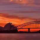 As the sun goes down behind the coat hanger by Andrew  MCKENZIE