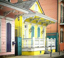 French Quarter Houses Greeting Card by Sandra Russell