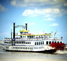 Creole Queen Steam Boat Card by Sandra Russell