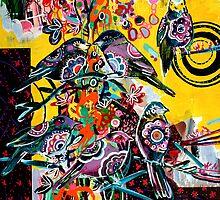 birds in yellow by Randi Antonsen