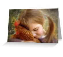 """""""A Child's Tenderness....."""" Greeting Card"""