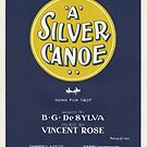 A SILVER CANOE (vintage illustration) by ART INSPIRED BY MUSIC