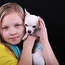 Portrait of the beautiful girl with chihuahua  by torishaa