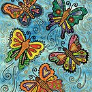 Watercolour Butterflies by Lisa Frances Judd ~ Original Australian Art