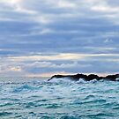 Waves off Staffa by TJLewisPhoto