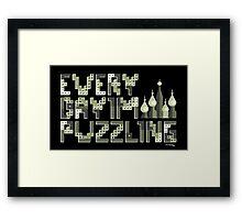 Tetris Puzzling Original Framed Print