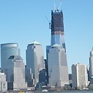 The New World Trade Center Towers Over the New York Skyline by lenspiro