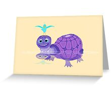 The Purple Turtle And A Bluebird Of Glee Greeting Card