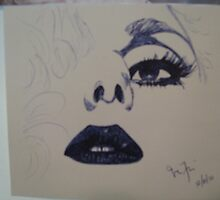 Quick Pen/Ink Sketch of Lady Gaga by Jesi Marie Timpe