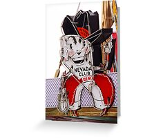 Reno - Old Nevada Club Greeting Card