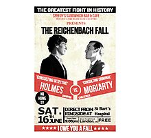 HOLMES vs MORIARTY Photographic Print