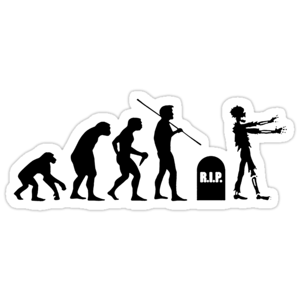 Zombie Evolution T-Shirt (II) by neizan