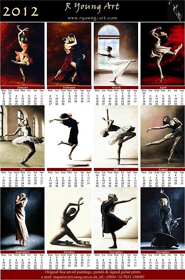 2012 fine art dance calendar by Richard Young