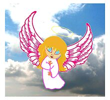 A Child Angel in Clouds by Dennis Melling
