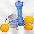 Still Life - Cup, Pepperpot &amp; Oranges by BAVVY