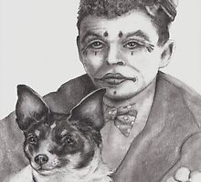A Dog and a Clown by Pam Humbargar
