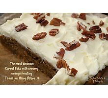 Carrot cake with creamy orange frosting Photographic Print