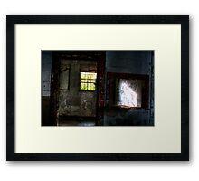 Winking Window Framed Print