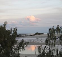 Reflection of Sunset (1) Elliott Heads, Bundaberg, Queensland. by Rita Blom