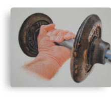 The old weight. Canvas Print