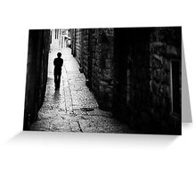 Jerusalem streets walker Greeting Card