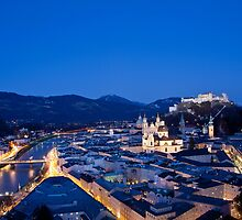 Blue Hour Salzburg by Ming Jun Tan