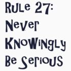 Rule 27 - Dark by pigofhappiness
