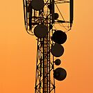 Mobile Tower Silhouette by Prasad