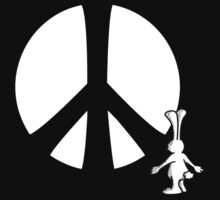 Rabbit Peace Hand Shadow by mobii