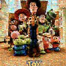 Mosaic Movie Poster: Toy Story 3 by Mark Chandler