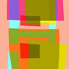 Abstract in pink and green by Phil  Hogan