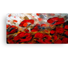 Wild Flowers Oil Painting 2 Canvas Print