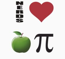 NERDS LOVE APPLE PI by ihsbsllc